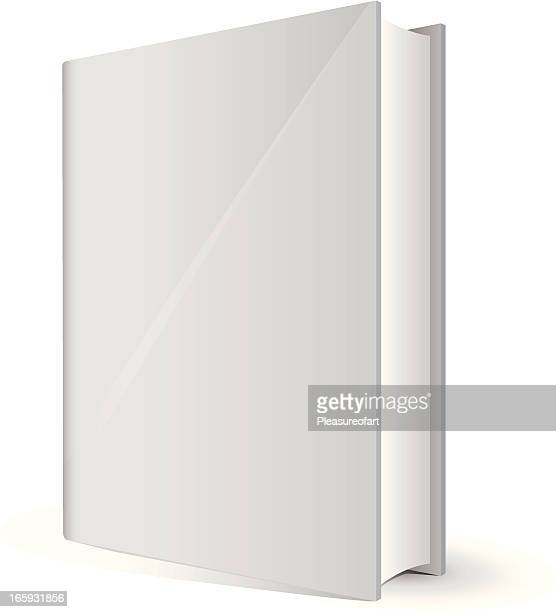 White book with blank front cover