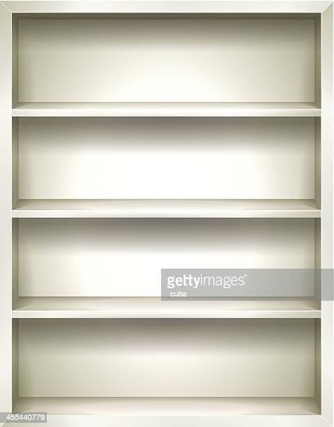 Weiße Bücherregale Hintergrund
