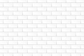 White brick wall. Vector illustration