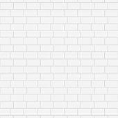 White ceramic brick wall. Vector illustration. Background