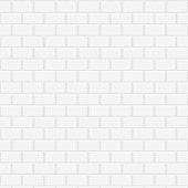 White ceramic brick wall. Vector illustration. Background