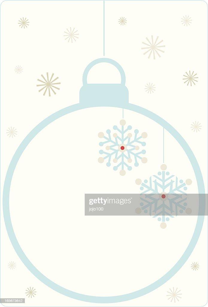 White christmas bauble invite vector art getty images for White christmas baubles