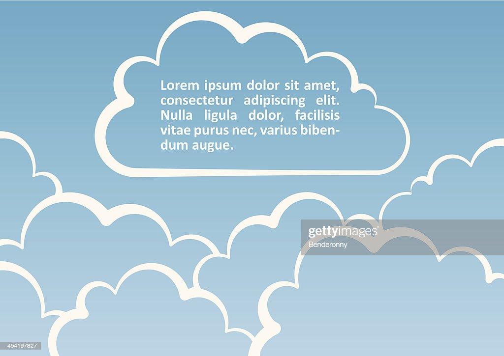 Nuvens de fundo branco.  Ilustração vetorial : Arte vetorial