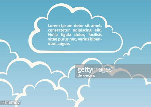 White clouds background. Vector illustration : Vector Art