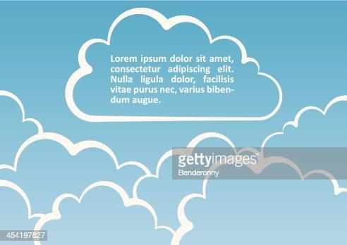 Fondo de nubes blancas.  Ilustración vectorial : Arte vectorial
