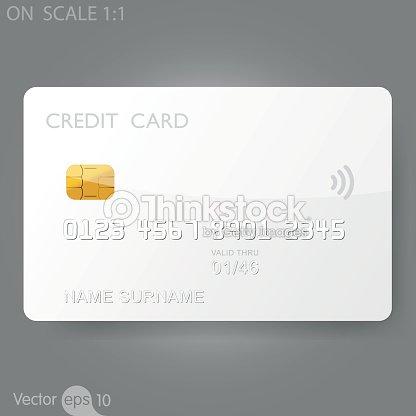white credit card template vector art thinkstock