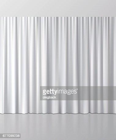 White curtain background. Vector illustration. : stock vector