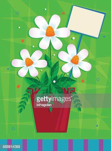 Blanco flores : Arte vectorial