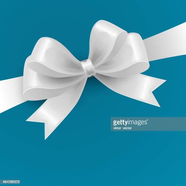 White Gift Bow. Vector illustration