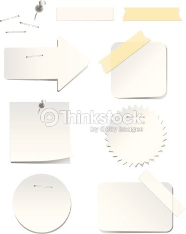 white labels with staples and tape vector art thinkstock
