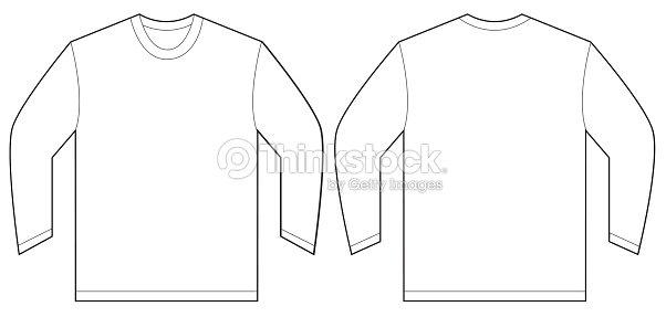 White Long Sleeve Tshirt Design Template Vector Art Thinkstock