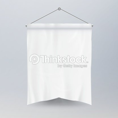 white pennant template vector empty 3d pennant banner blank classic