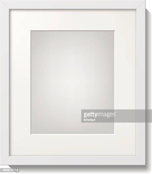 A white picture frame with white borders