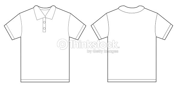 White polo shirt design template for men vector art for Polo shirt design template