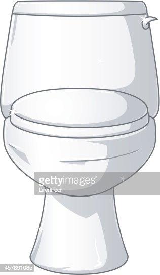 White Shiny Toilet   Vector Art. White Shiny Toilet Vector Art   Getty Images