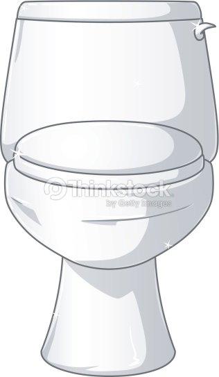 White Shiny Toilet   Vector Art. White Shiny Toilet Vector Art   Thinkstock