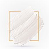 White smear texture on white vector background. Pastel color design template
