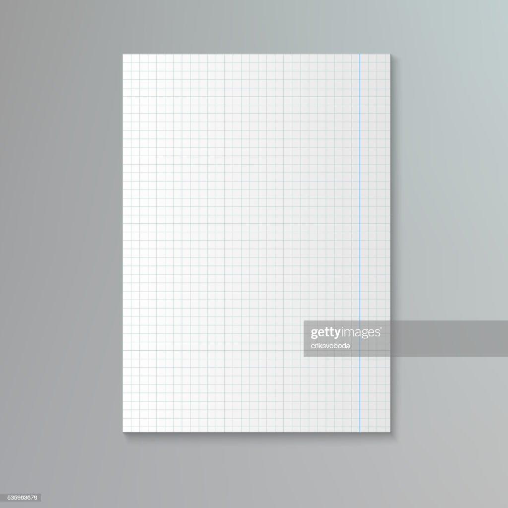 White squared paper sheet. : Vector Art