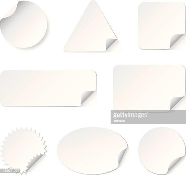 Pegatinas blanco (Vector