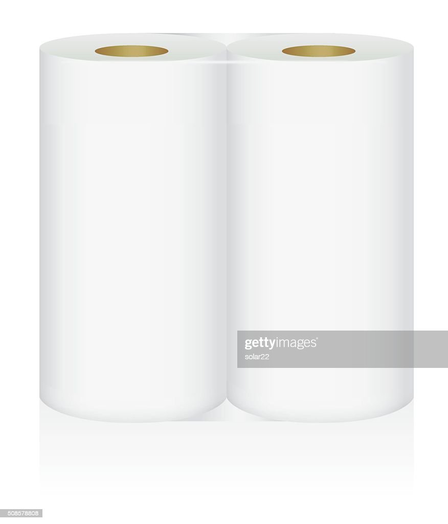 White tissue paper 2 roll in pack : Vector Art