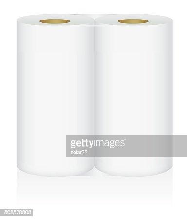 White tissue paper 2 roll in pack : Vector Art