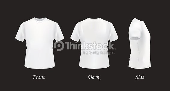 White tshirt template set front back and side views vector art white t shirt template set front back and side views vector art maxwellsz