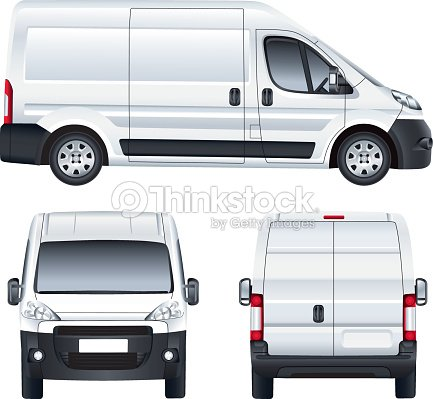 White Vector Delivery Van Vector Art | Thinkstock