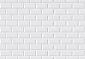 Vector seamless illustration of white wall tile like in the Parisian subway