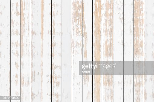 White wood plank texture background, vector : stock vector