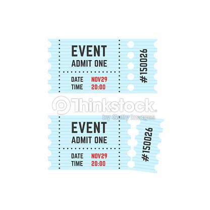 whole and torn raffle ticket stub icon vector art