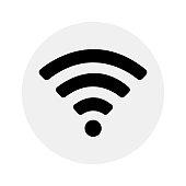 Wifi icon on grey background