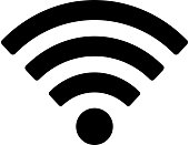 Wifi icon isolated on white