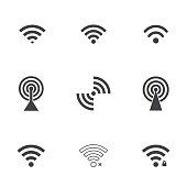 wifi icons. vector set. eps8