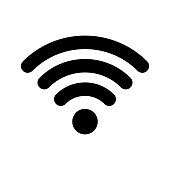 Wi-Fi internet icon. Vector wi fi wlan access, wireless wifi hotspot signal sign