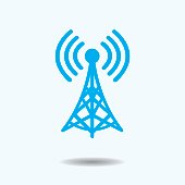 Vector Illustration : WiFi Tower