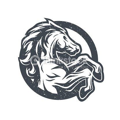 Wild Horse Logo Symbol Vector Art Thinkstock
