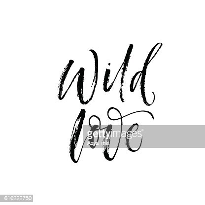 Wild love phrase. : Vector Art