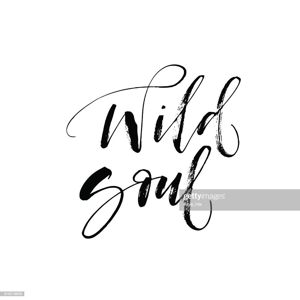 Wild Seele Karte. : Vektorgrafik