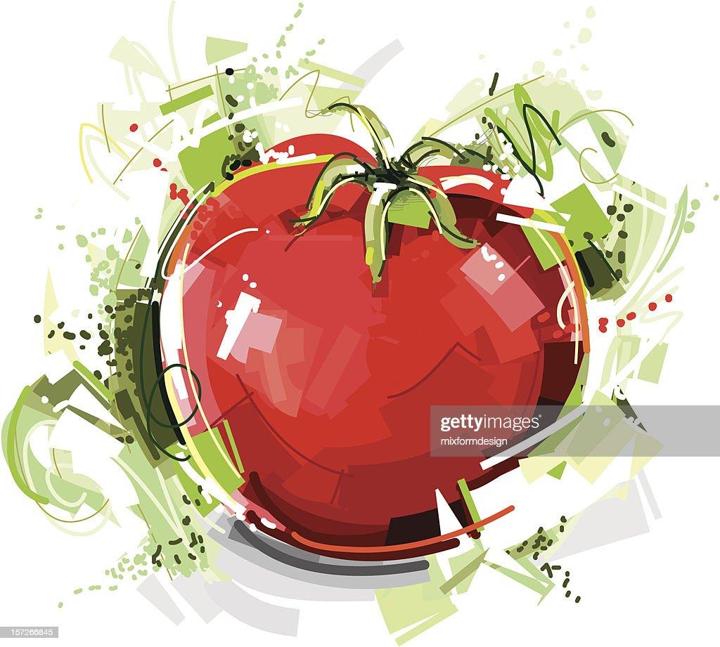 wild tomato sketch : Vector Art