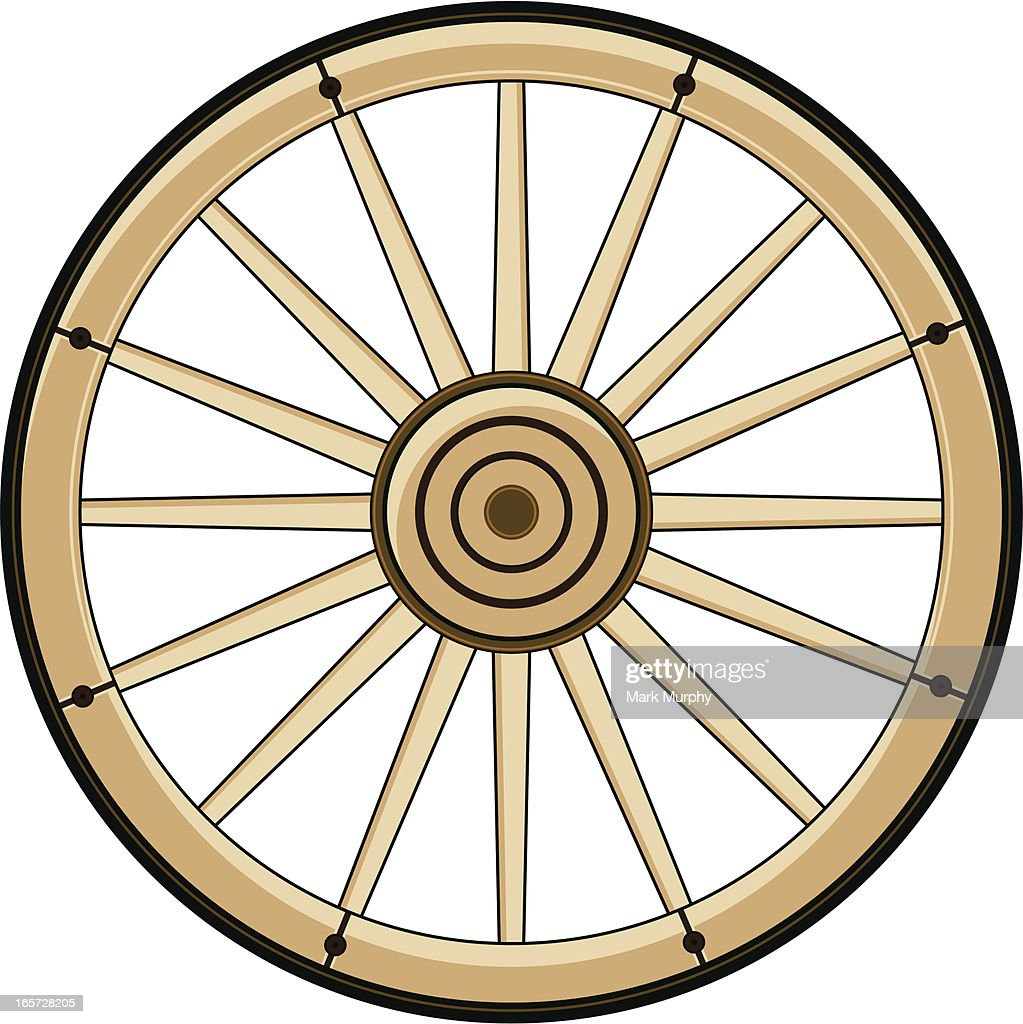 Wild West Chuck Wagon Wheel Vector Art | Getty Images