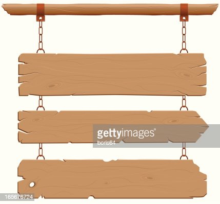 wild west wood hanging sign vector art getty images