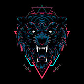 Wild wolf sacred geometry