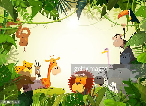 Wildlife Animals Landscape : stock vector