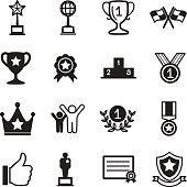 Win and success icons set