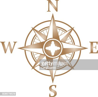 Wind rose gradient : Vector Art
