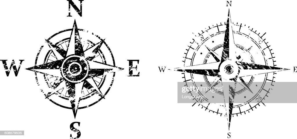 Wind rose grunge : Vektorgrafik