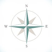 Wind rose. Editable vector illustration. EPS 10