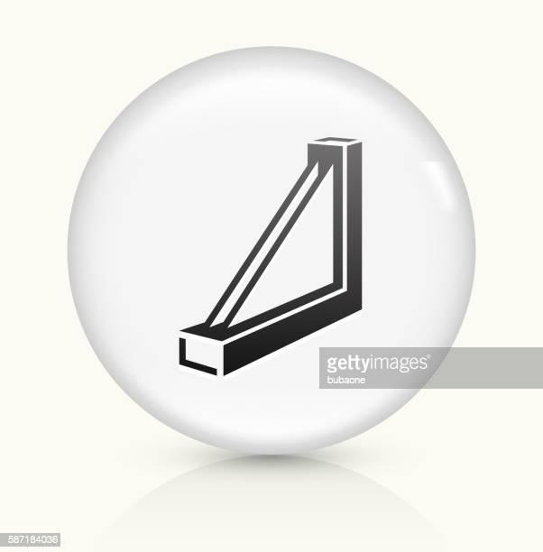 Window frame icon on white round vector button