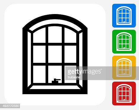 Windows icon flat graphic design vector art getty images Free graphic design software for windows