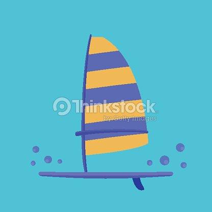 Windsurf Board Vector Art | Thinkstock